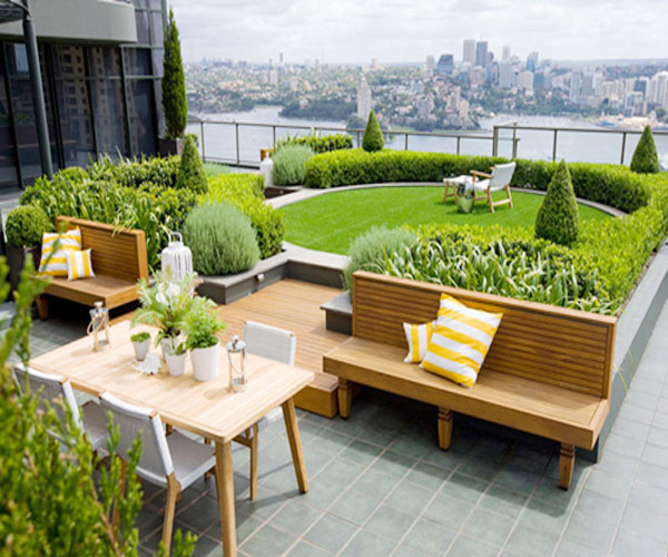cỏ nhân tạo sân vườn 2