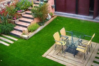 Tạo ấn tượng cho khách hàng với cỏ nhân tạo trang trí quán café