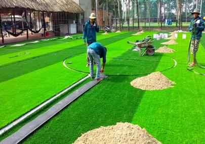 Ký thuật thi công sân cỏ nhân tạo