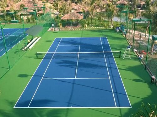 Thi công sân tennis và các bước sơn sàn sân tennis thi đấu chuyên nghiệp