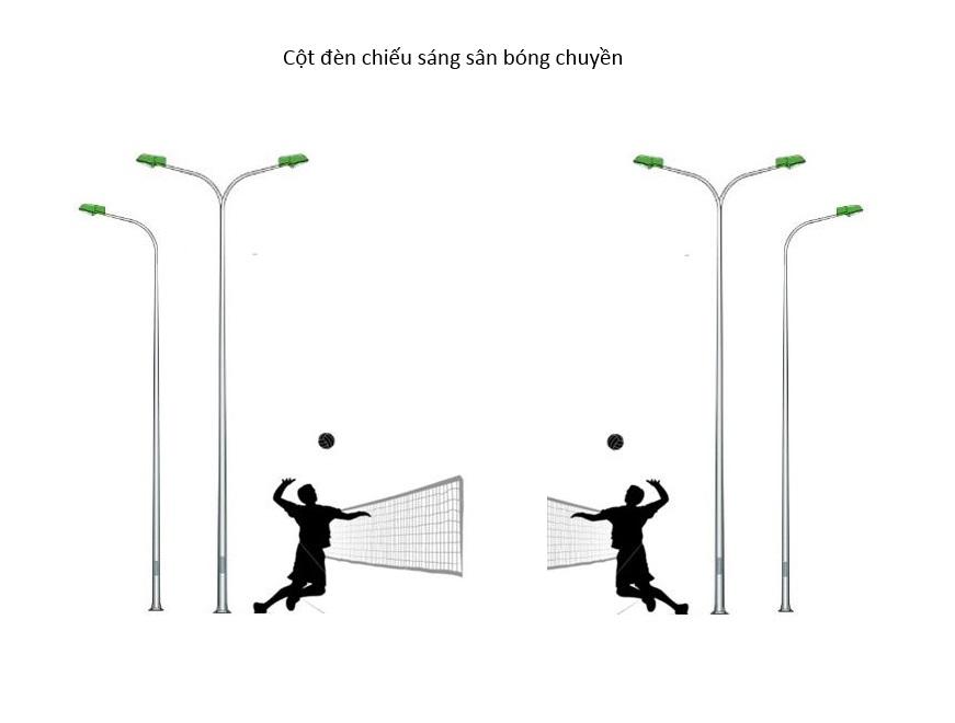 Tiêu chuẩn đèn chiếu sáng sân bóng chuyền