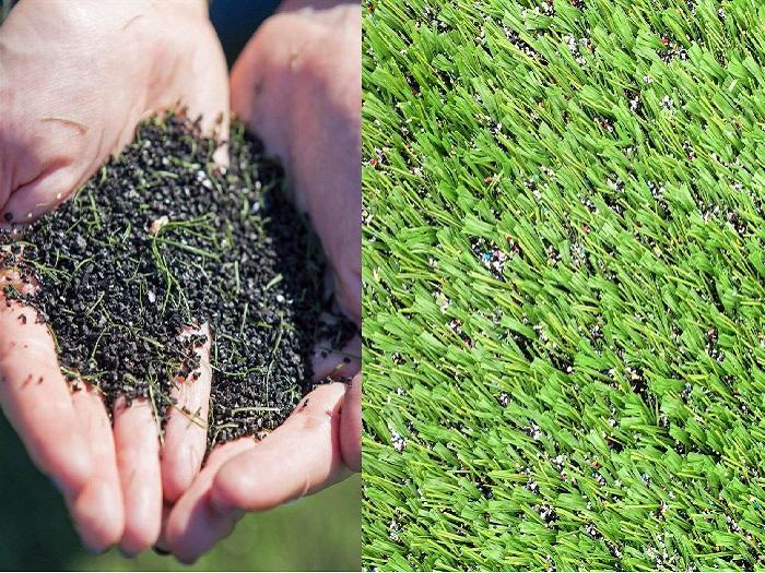 Hạt cao su trải sân bóng cỏ nhân tạo