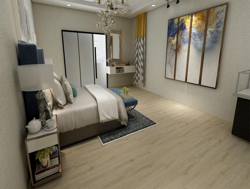Mẫu sàn nhựa giả gỗ dành cho phòng khách