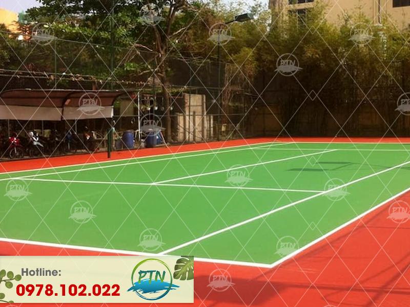 Thi công sân tennis Lilama tại Hà Đông