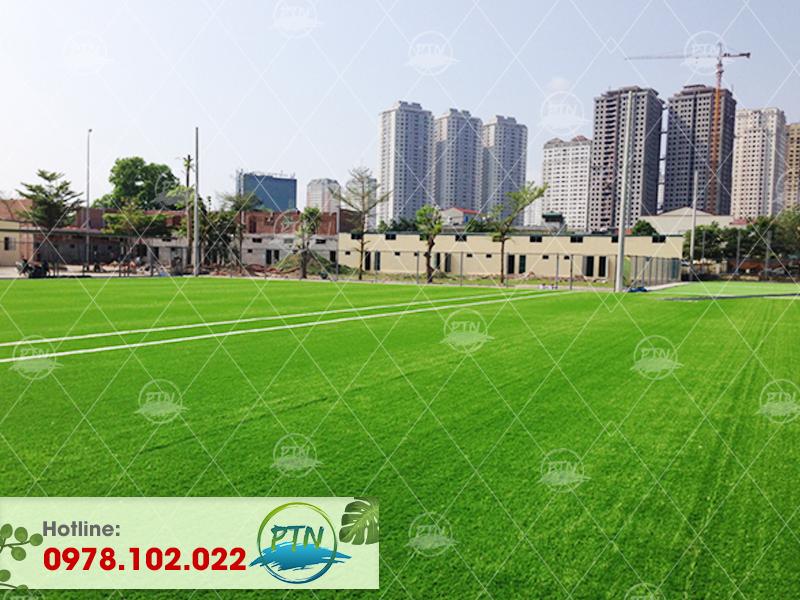 Thi công cụm Sân bóng cỏ nhân tạo Mậu Lương – Hà Đông