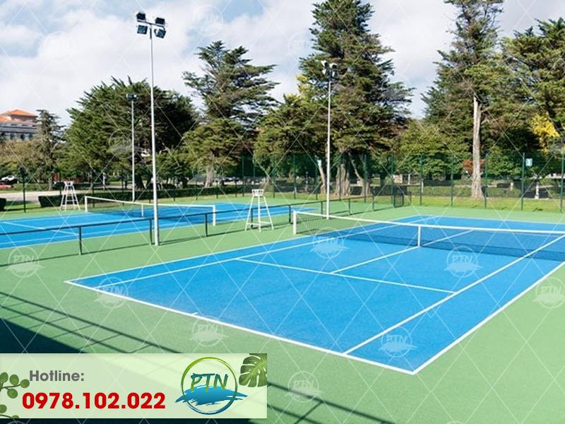 Thi công sân bóng Tennis tại hà nội