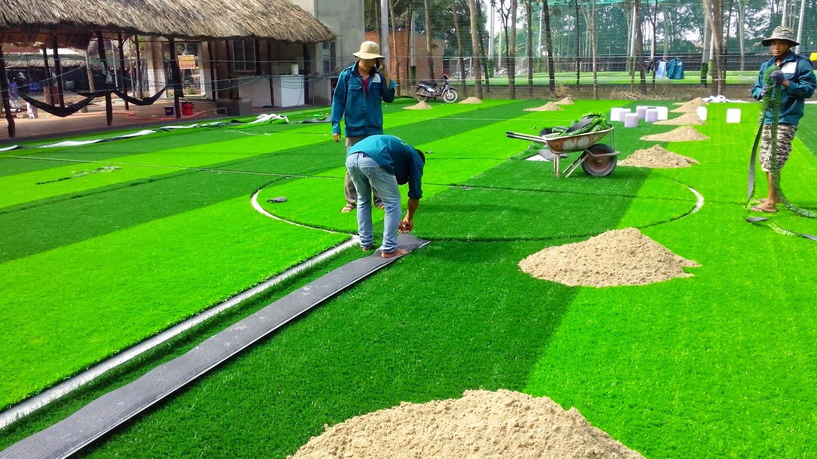 kỹ thuật thi công sân cỏ nhân tạo