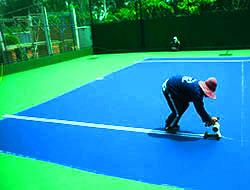 Thi công sân bóng tennis