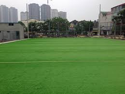 Thi công cụm sân bóng cỏ nhân tạo mậu lương hà đông